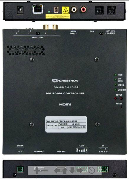 DigitalMedia 8G Single-Mode Fiber Receiver & Room Controller 200