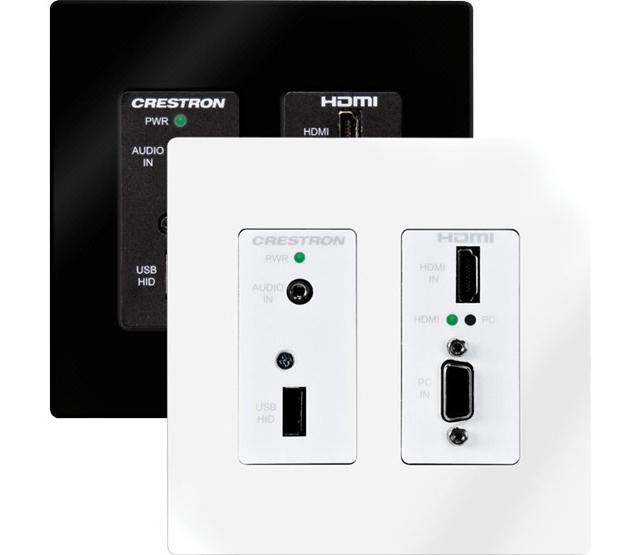 Crestron Wall Plate DigitalMedia 8G+™ Transmitter 200, includes PW-2407WUL