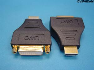 DVI D Plug (Male) to HDMI in.Ain. Jack (Female), Black
