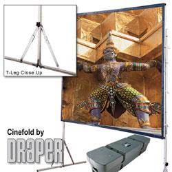 Draper 218089 Cinefold Portable Screen w/ Heavy Duty Legs15ft