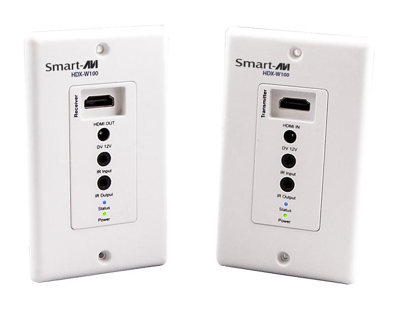 SmartAVI HDX-W100S HDMI, IR, CAT5e/6 Wall Plate Extender