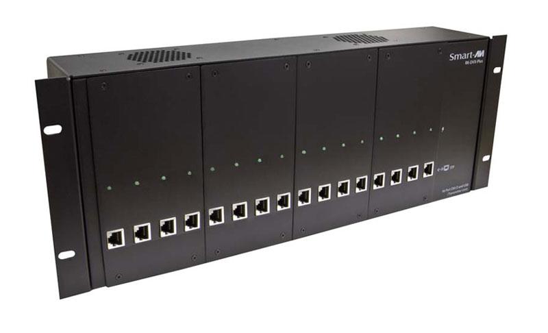 SmartAVI RK-DVX-PLUS-TX4S Powered Rack/Chassis, DVI-D, CAT6 STP Transmitter,