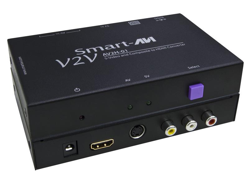 SmartAVI V2V-AV2H-01S SVideo, Composite Video & Audio to HDMI Converter