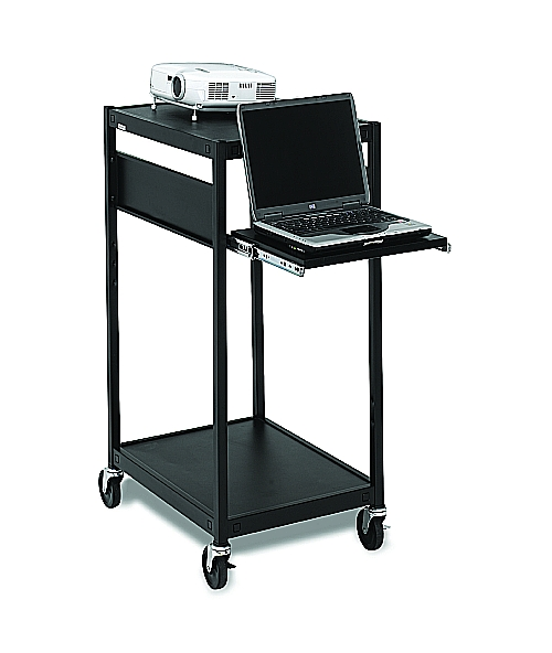 Bretford ECILS2-BK Multimedia Cart, Compact, 4in. Caster, Black
