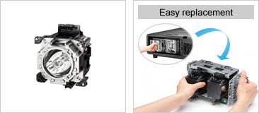 Panasonic ET-LAD510F Projector Replacement Lamp for PT-DZ21K Series, 4 Lamp