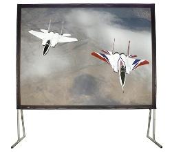 Buhl BFF-108144 180in. Diagonal Easy Fold Portable Screen, Case
