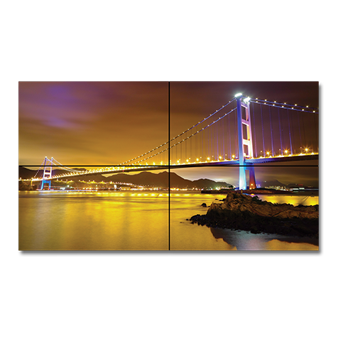 NEC X464UNS-TMX4P 46in. LED-Backlit 3.5mm Bezel 2x2 Video Wall Bundle