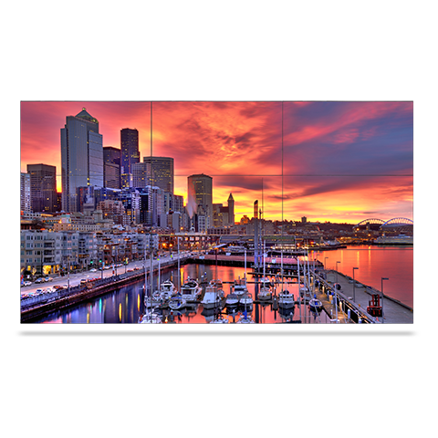 NEC X464UNS-TMX9P 46in. LED-Backlit 3.5mm Bezel 3x3 Video Wall Bundle