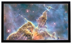 Buhl FF-110-R Fixed Frame Projector Screen - 110in.