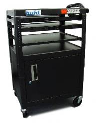 Buhl Height Adjustable AV Media Cart with Cabinet