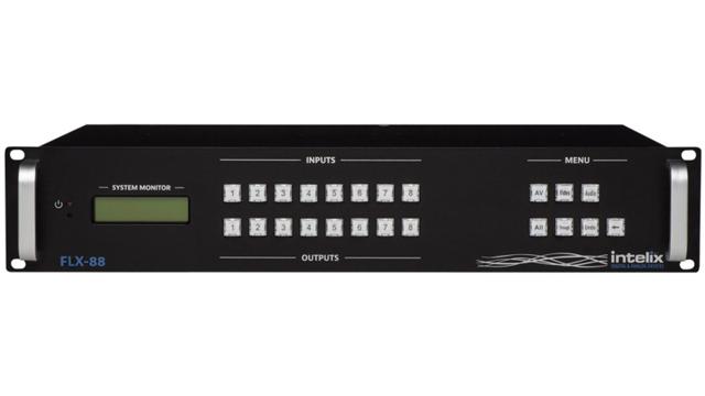 Liberty FLX-88 Flexible Card-Based Matrix Switcher - 8 Inputx8 Output