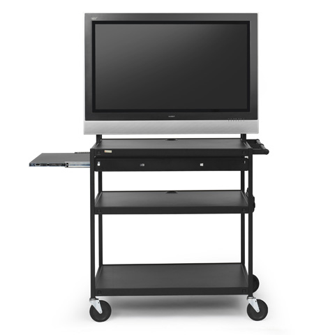 Flat Panel Cart with Laptop Shelf, for 37 to 52-inch Monitors
