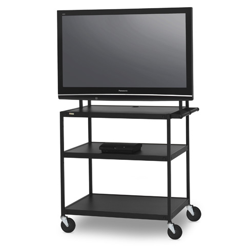 Flat Panel Cart for 37 to 52-inch Monitors with 6-Outlet Electrical