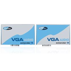 Gefen VGA-AUDIO-141 VGA/3.5mm over Cat5 Extender, Sender & Receiver