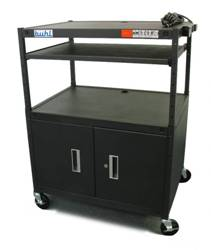 Buhl Adjustable AV Media Cart With Cabinet