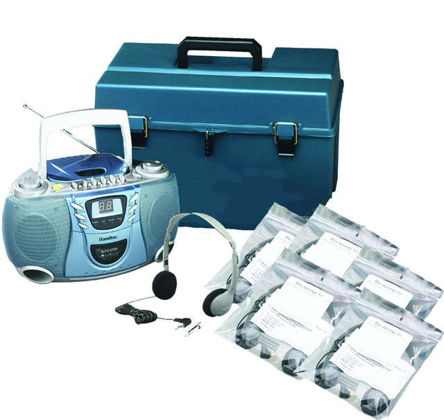 Hamilton Buhl HMC/CD385/HA2 6-User CD/Cassette Headphone Lab Pack