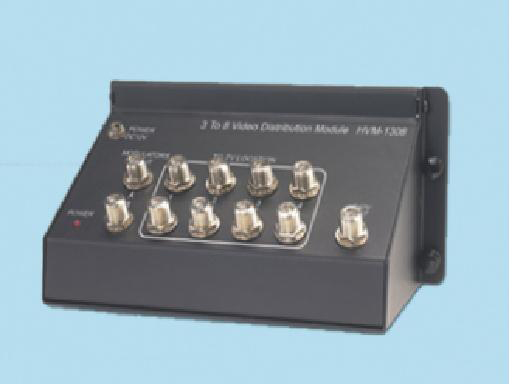 Liberty HVM-1308 3:8 CATV/DBS Bi-Directional Distribution Amplifier.