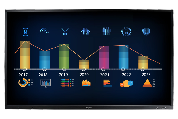 Optoma OP651RK+ 65in. 4K Creative Touch Interactive Flat Panel