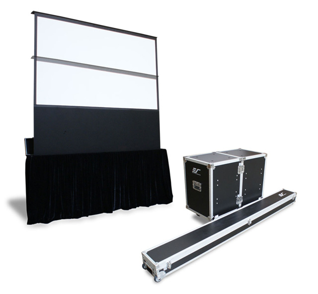 Elite FE100H-TC 100in. 16:9 Kestrel Stage Electric Floor-Rising Screen