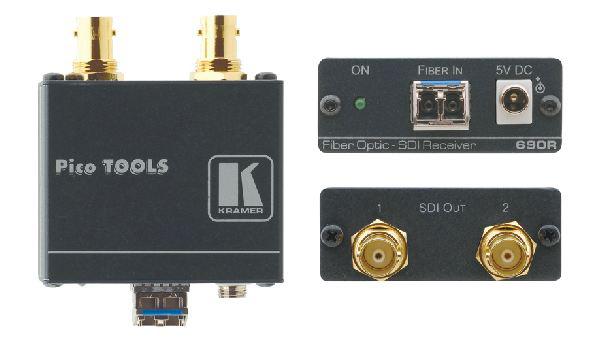Kramer 690R 2-Channel 3G HD-SDI Fiber Optic Receiver