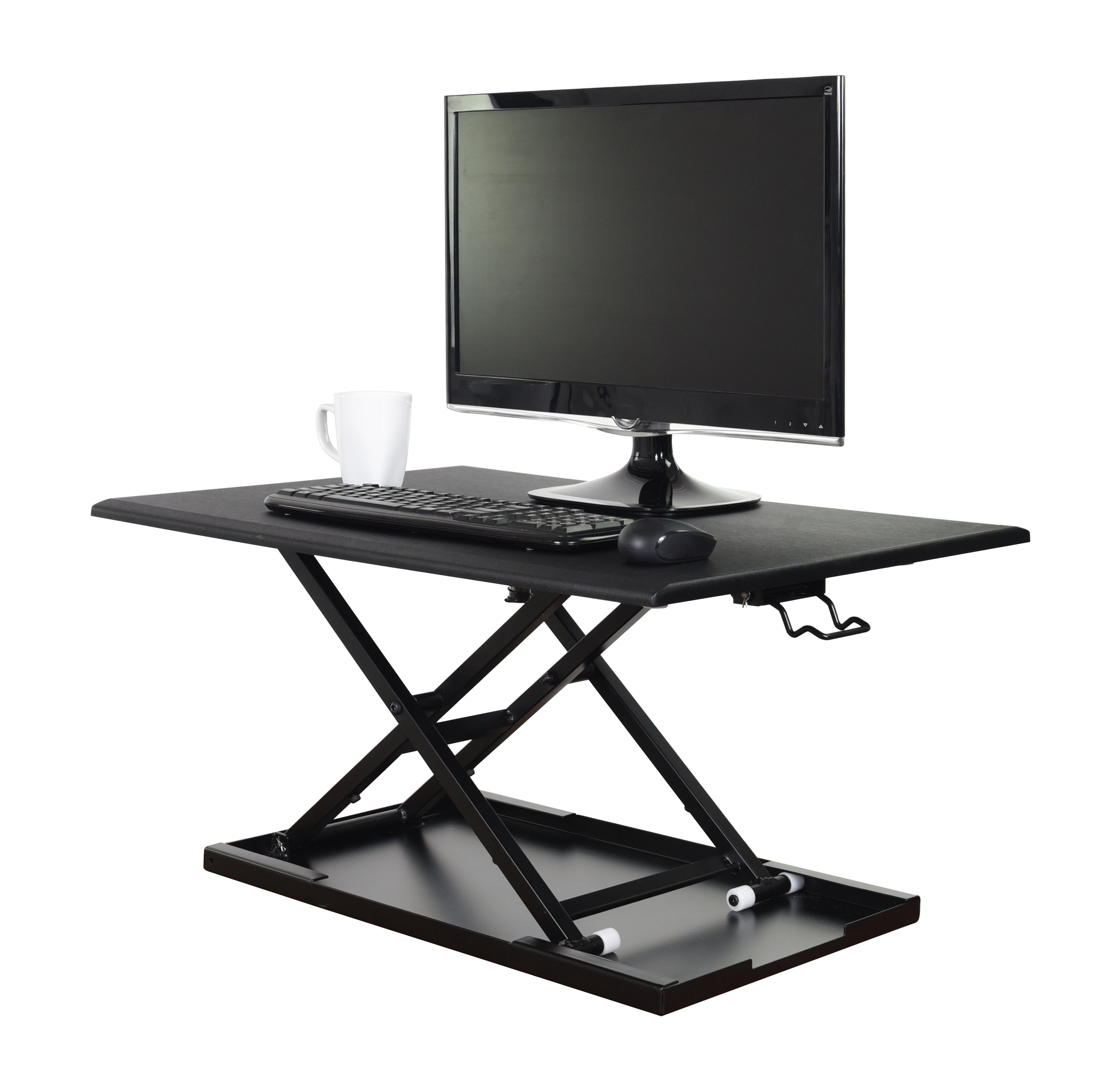 Luxor LVLUP32-BK Pneumatic Adjustable Desktop