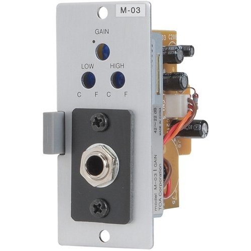 Toa Electronics M-03P - Microphone Input Module for 900 Series Amp