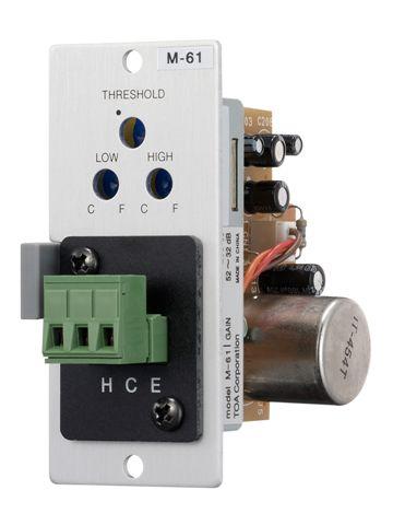 TOA M-61F Mic Input Module, Compressor, XLR-F Connector