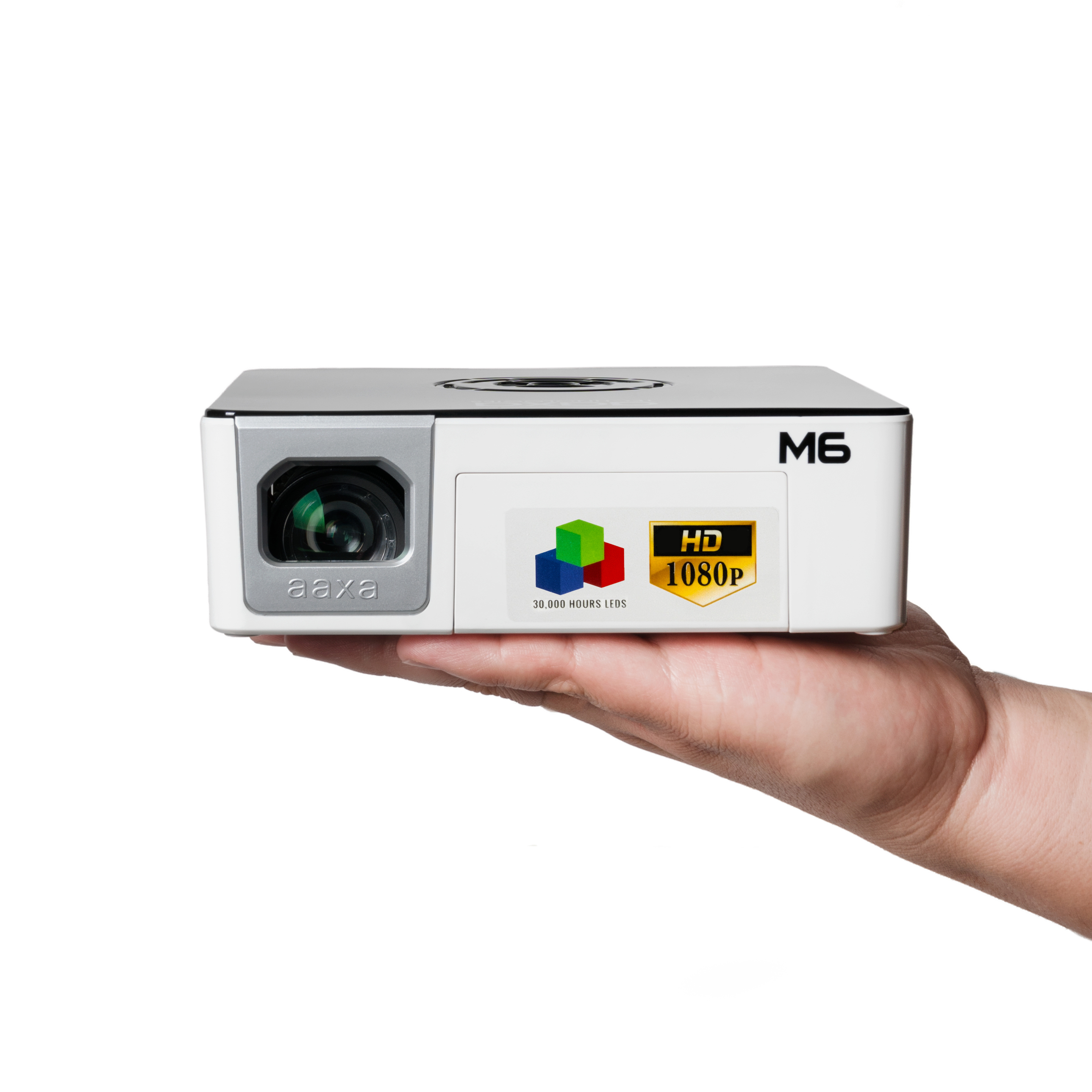 AAXA M6 1200lm Full HD LED Pico Projector w/ Onboard Media Player