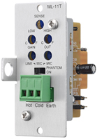 Toa Electronics ML-11T - Mic/Line Input Module with Mute Send/Receive