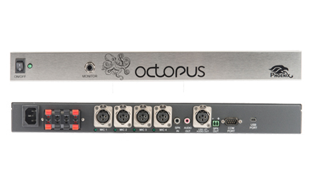 Phoenix MT454-PA Octopus 4ch Microphone Mixer with Power Amplifier