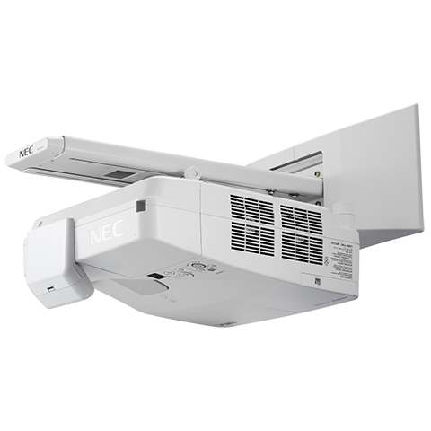 NEC NP-UM361Xi-TM 3600lm Ultra Short Interactive Projector w/ Touch & Wall Mt