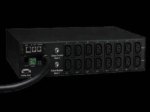 Tripp-Lite PDUMH30HVNET Single-Phase Switched 30A PDU, 2U & Remote Monitoring