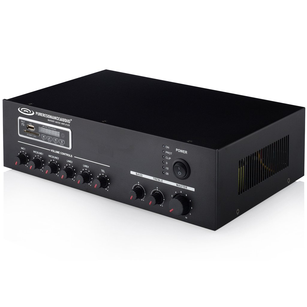 Pure Resonance MA60BT 7ch 60W Commercial Mixer Amplifier w/ Bluetooth