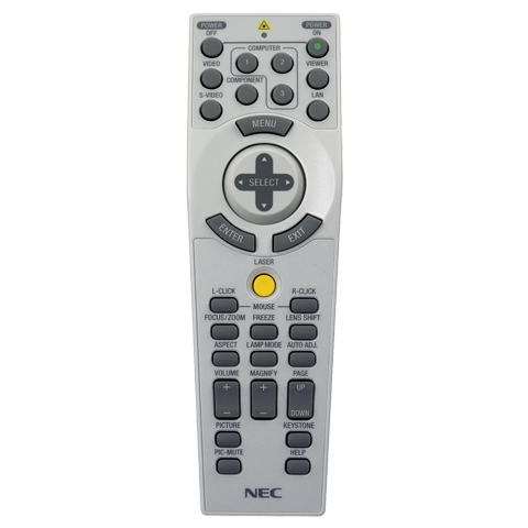 NEC Replacement Remote Control for NP4000/NP4001 Projectors