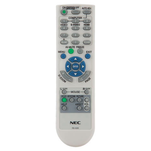 NEC RMT-PJ32 Replacement Remote Control for NP-U300X and NP-U310W Projector