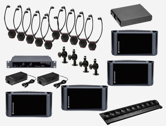 Sennheiser SI1015-8000DUAL Dual Channel/Stereo Infrared System, 8000 sq ft