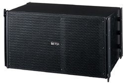 Toa Electronics SRA12L Mid-Sized Line Array 450W Speakers (Black)