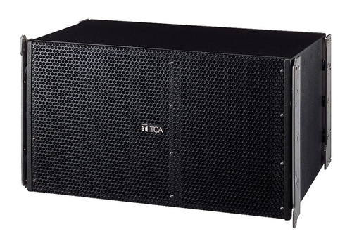 Toa Electronics SRA12S Mid-Sized Line Array 450W Speakers (Black)