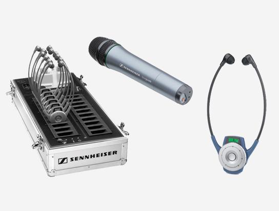 Sennheiser TG2020-20HANDHELDSYS RF Wireless Handheld Audio Tour Guide System
