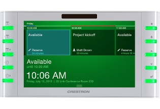 Crestron TSW-730-W-S 7in Touch Screen,Room Scheduling, White Smooth