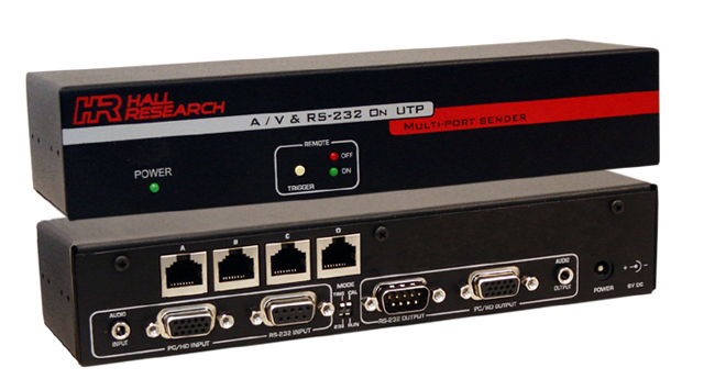 Hall Research 4-channel Splitter, Video, Audio & RS232 over Twisted Pair