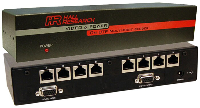 Hall Research UV8-S 8-channel Video and Phantom Power over UTP Extender