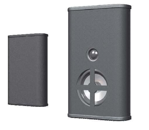 Innovox Ultra Slim Surface-Mount Loudspeaker - Single 4in. LF (Black)