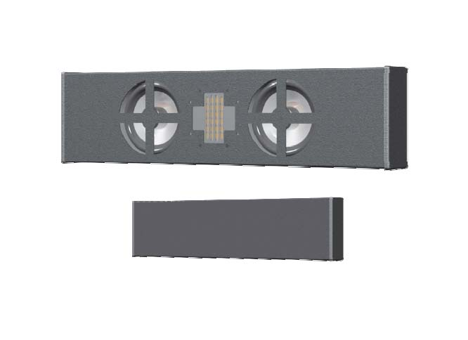 Innovox Ultra Slim Surface-Mount Loudspeaker - Dual 4in. LF (Black)
