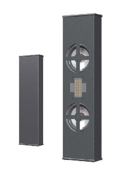 Innovox Slim Rectangular Surface-Mount Loudspeaker - Dual 4in. LF (Black)