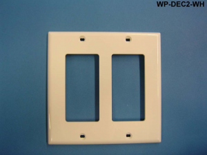 Liberty WP-DEC2-WH Decorator Style 1-Gang Wall Plate, White
