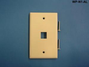 Liberty WP-N1-AL One Port Single Gang Wall Plate, Almond