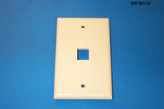 Liberty WP-N1-IV One Port Single Gang Wall Plate, Ivory