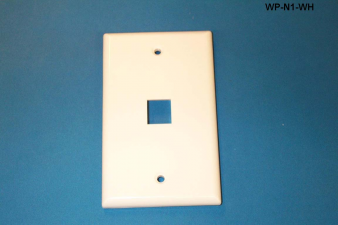 Liberty WP-N1-WH One Port Single Gang Wall Plate, White