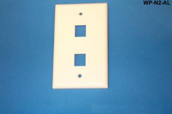 Liberty WP-N2-AL Standard Single Gang Wall Plate, Almond